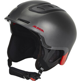 Alpina Spine Casco da sci, black-lumberjack matt